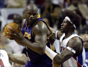 Pazzesca la tenuta difensiva del lungo di Detroit, capace di limitare il giocatore più pericoloso dei Lakers, Shaquille O'Neal