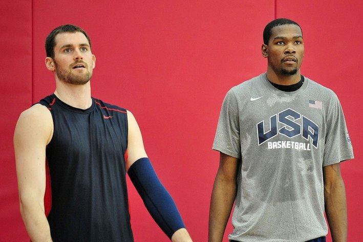 Love e Durant