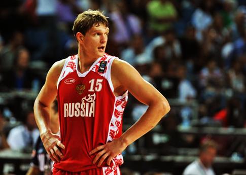 Il centro russo Timofey Mozgov, bronzo con la Russia alle Olimpiadi di Londra