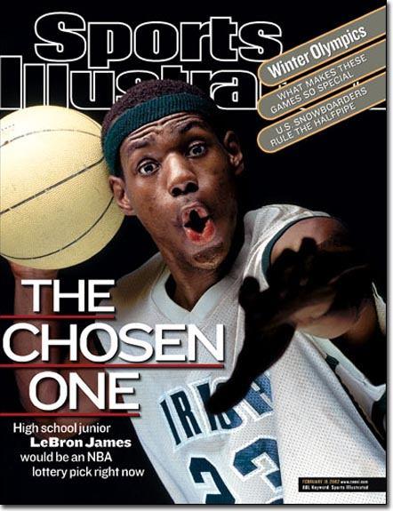 La copertina di Sports Illustrated che lanciò LeBron con il suo primo soprannome