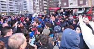 Un'immagine della festa tenutasi ieri presso ala Club House (notizie.tiscali.it)
