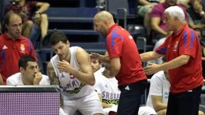 Micov, dopo gettato l'asciugamano contro coach Djordjevic ha dovutp dire addio al Mondiale spagnolo.