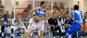 Matteo Formenti: suo il canestro che ha permesso alla Dinamo di chiudere il primo tempo in vantaggio