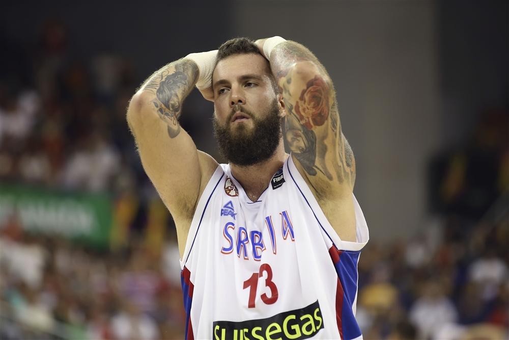 M. Raduljica, qui in maglia Serbia, non è bastato per conquistare la vittoria