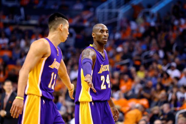 """Kobe e Lin; la loro """"chemistry"""" non è veramente ottimale..."""