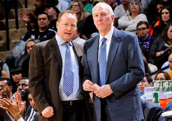 Popovich e Budenholzer insieme ai tempi di San Antonio.