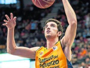Guillem Vives, 12 punti nella vittoria corsara del Valencia Basket.