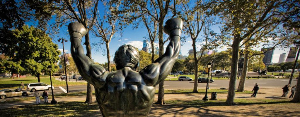 La statua di Rocky davanti al museo d'arte di Philadelphia trae in inganno sull'andamento dello sport nella City of Brotherly Love.