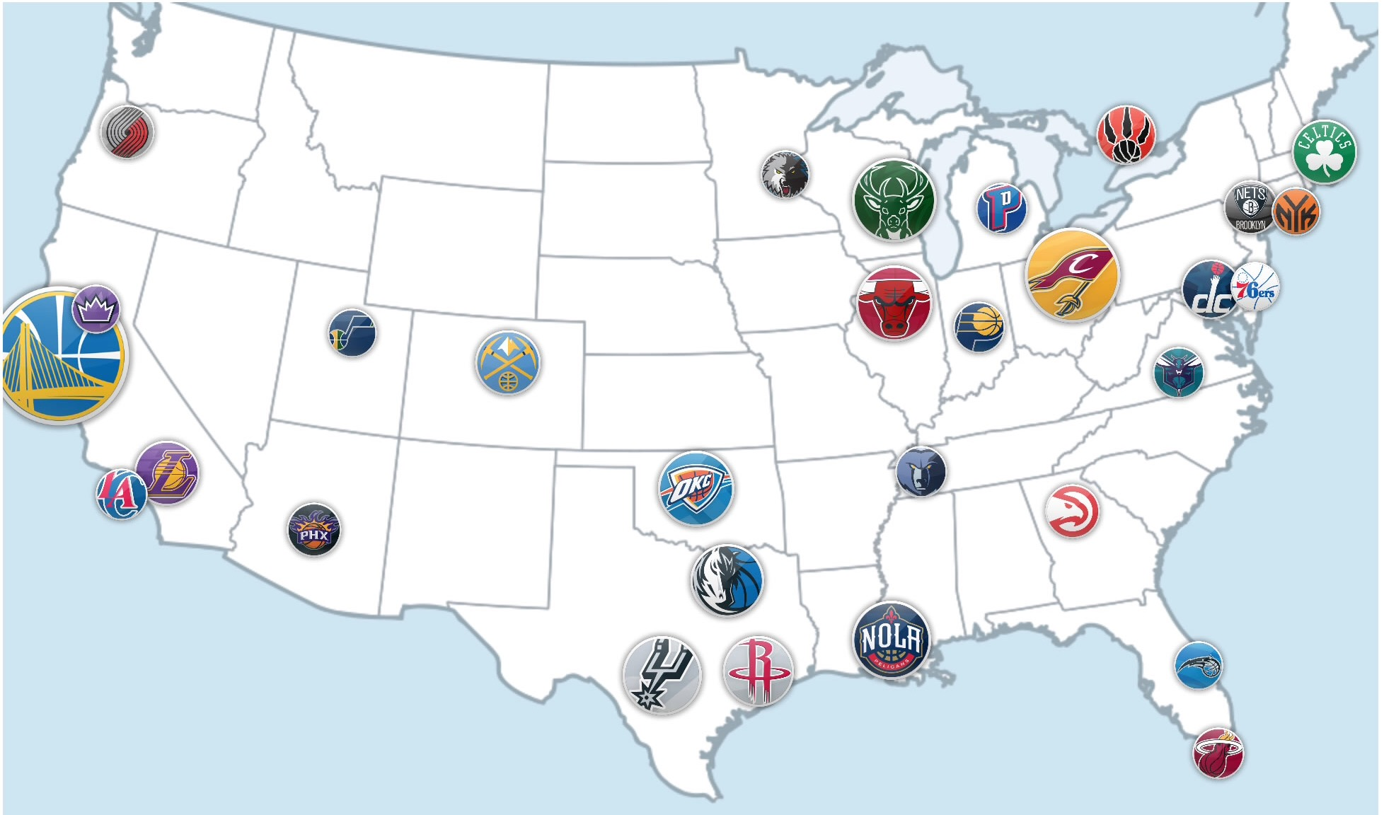 Similiar NBA Teams Map 2017 Keywords