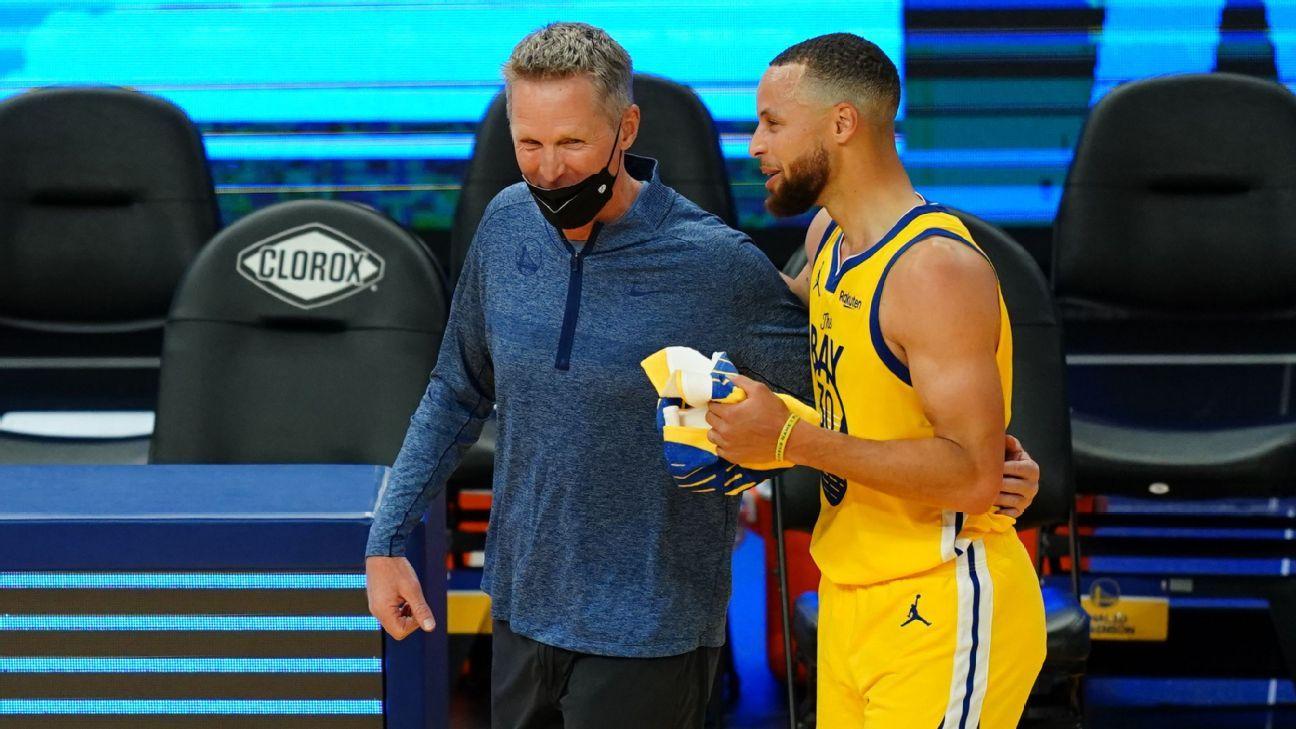 NBA Curry MVP Steve Kerr