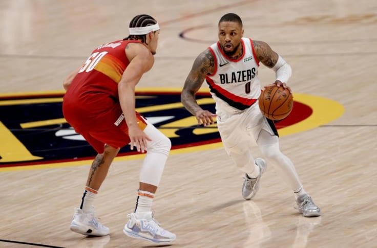 NBA Damian Lillard 8 triple