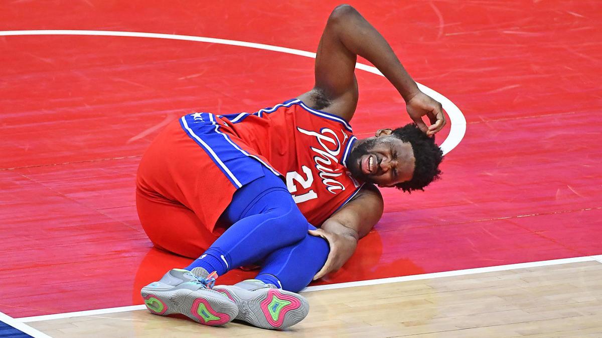 NBA Embiid ginocchio fine stagione