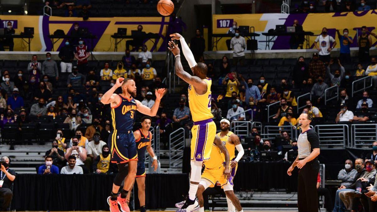 NBA LeBron Warriors Lakers