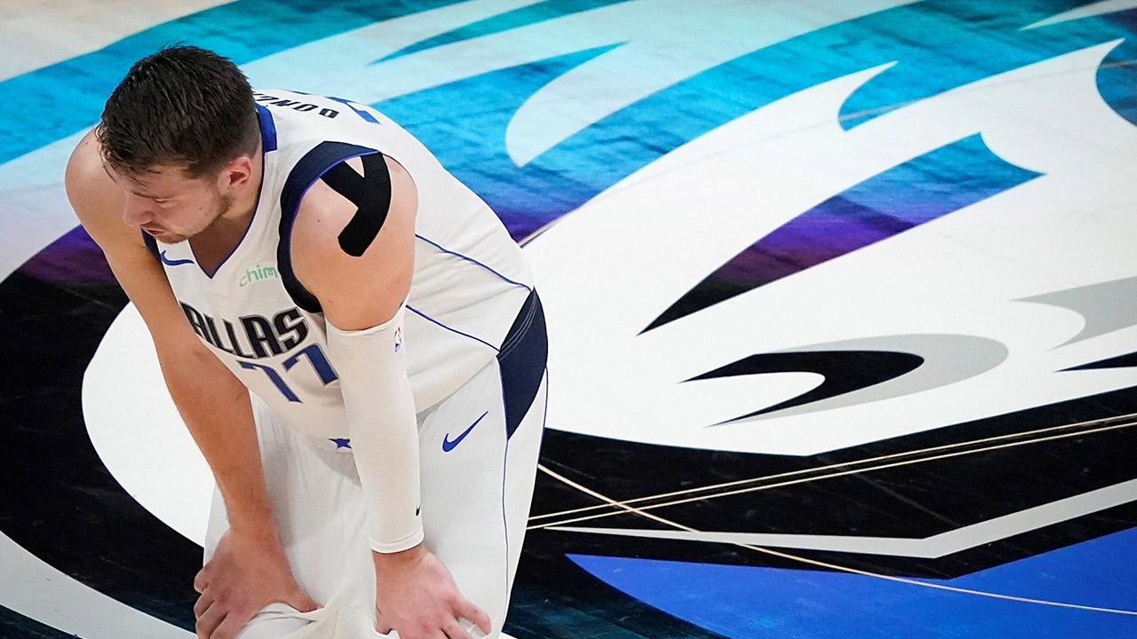 NBA Luka Doncic collo