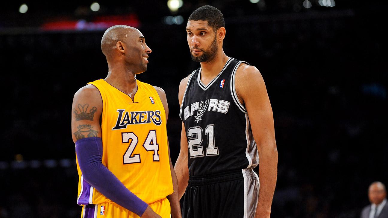 NBA Tim Duncan Kobe Bryant