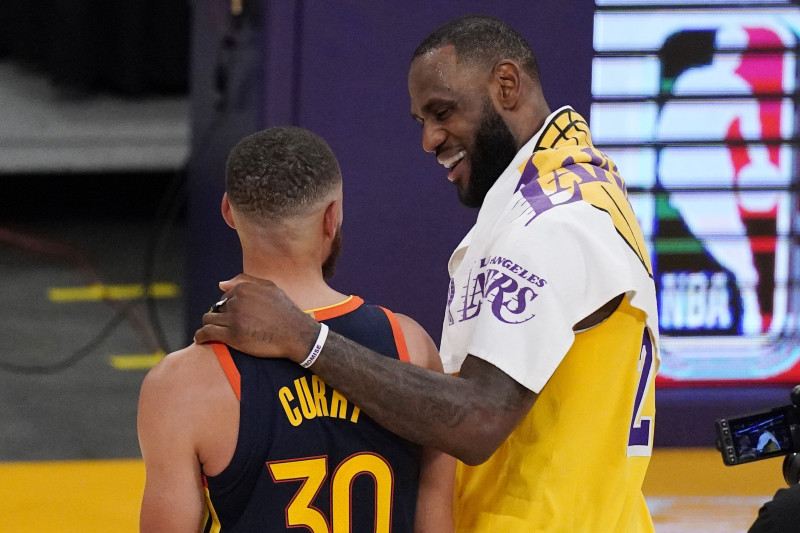 curry lebron warriors lakers