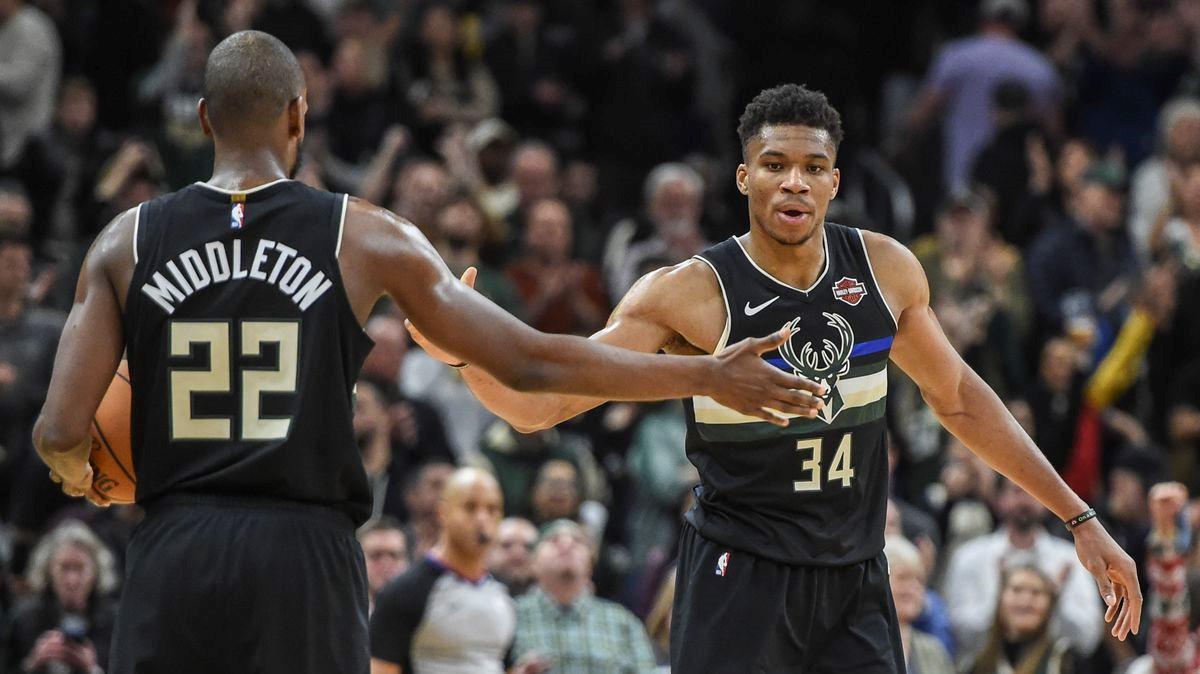 NBA Giannis Antetokounmpo Khris Middleton