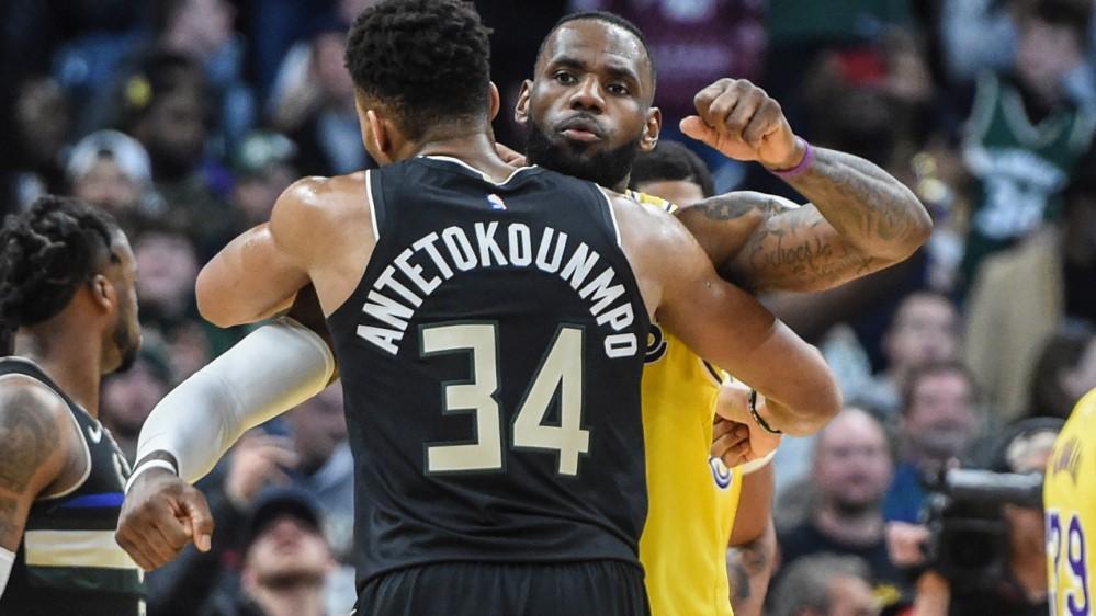 NBA Giannis Antetokounmpo LeBron James