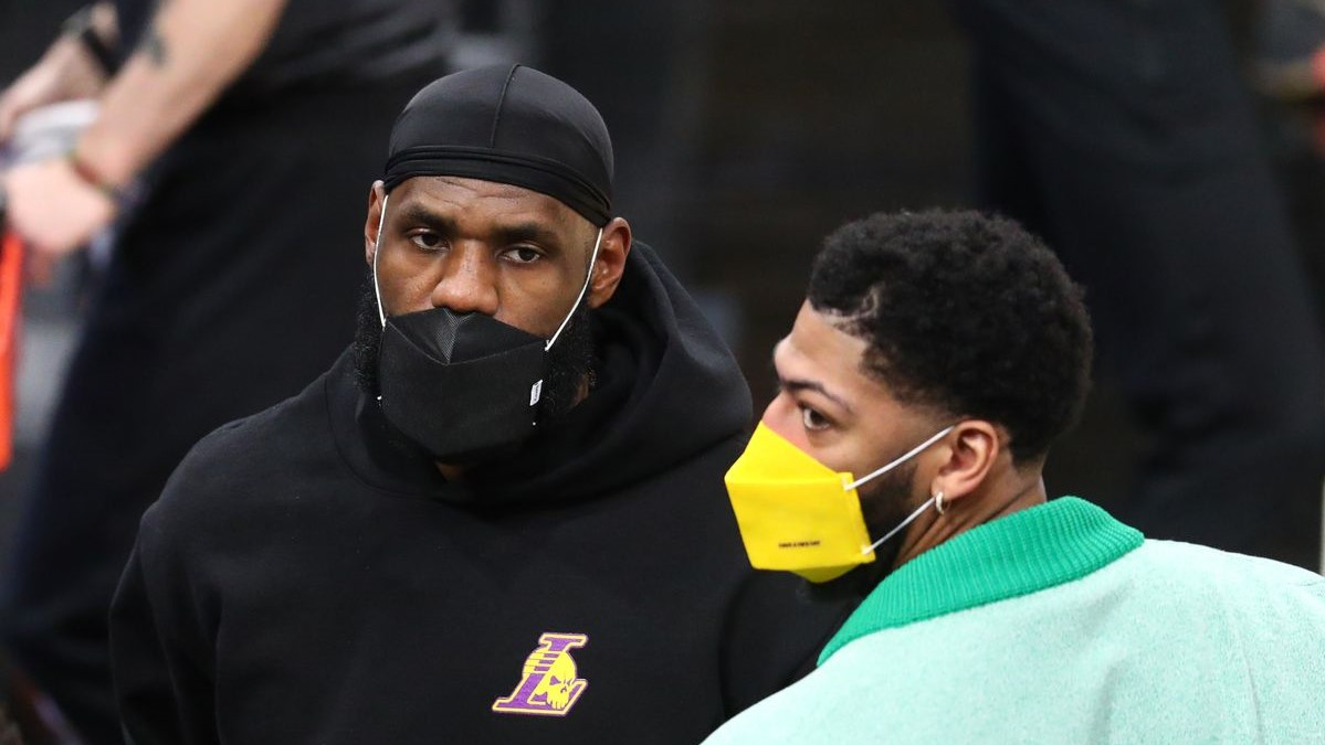 NBA LeBron Davis Lakers preoccupati