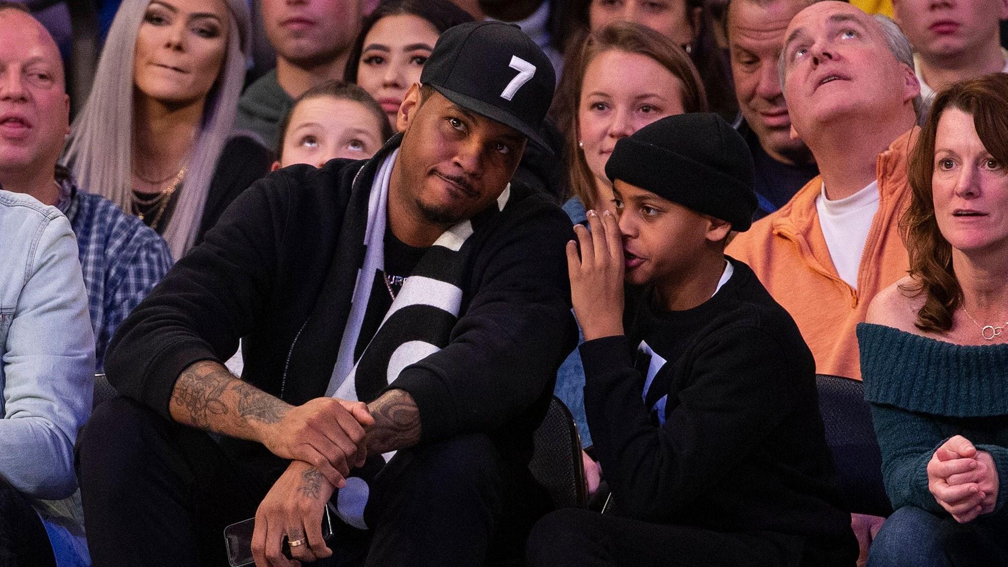 NBA Carmelo Anthony figlio
